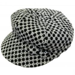 Gorra femenina octogonal paño cuadros