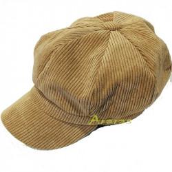Gorra femenina octogonal pana