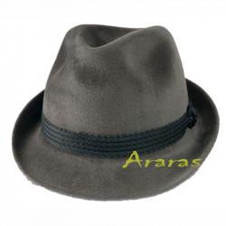 Sombrero ala corta Trilby Gris TK335