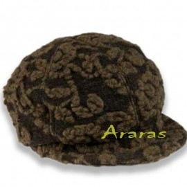 Gorra  femenina 140 marrón