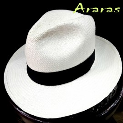 Sombrero Panamá Clasic grueso llano blanco de Araras