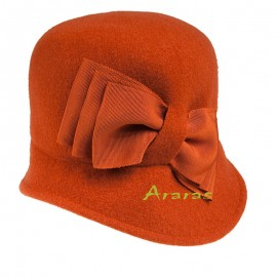 Sombrero Cloche 100 lana TK509 lazos