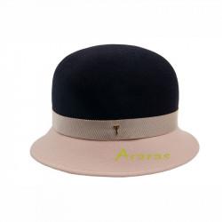 Sombrero Cloche bicolor TK622