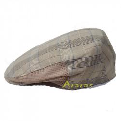 Gorra lino-algodón cuadros y rejilla Pimon