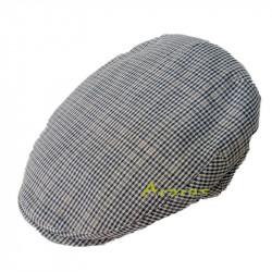 Gorra lino-algodón Pimonte cuadritos