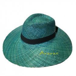 Sombrero fedora ala grande azul