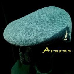 Gorra invierno en paño de lana con espiguilla en Araras