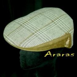 Gorra invierno en paño de lana cuadrito pata de gallo en Araras