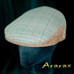 Gorra invierno en paño de lana listas y cuadros en Araras