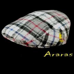 Gorra invierno en paño de lana cuadro escoces en Araras