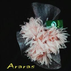 Tocado disco flor gasa en Araras