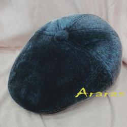 Gorra piel de pelo con botón en Araras