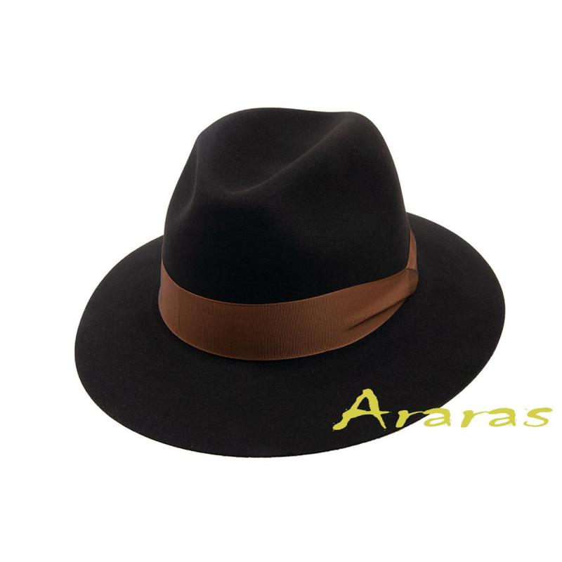 Sombrero Indiana fieltro pelo de conejo fur felt ala ancha b3d3840b937