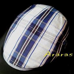 Gorra verano de Lino-algodón SL35 cuadros en Araras