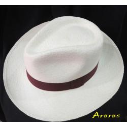 Sombrero Panamá Aguacate grueso llano blanco de Araras