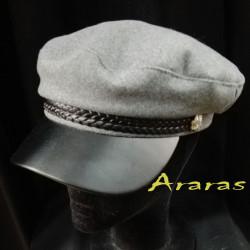 Gorra marinero de paño con banda