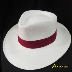 Sombrero Panamá Plantacion grueso llano blanco de Araras